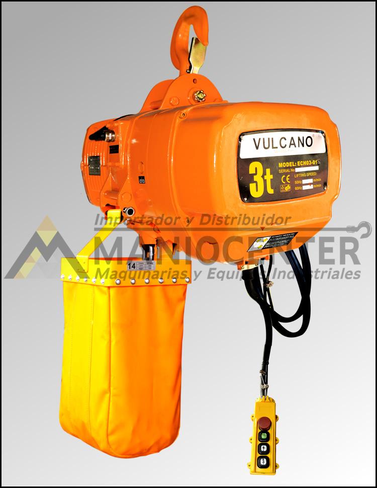 Tecle electrico Vulcano 3 ton con gancho